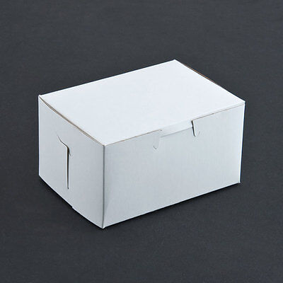 25 Count White 5.5x4x3 Bakery Or Cake Box
