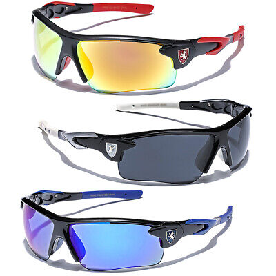 Racing Cycling Baseball Cool Khan Men Sport Sunglasses Half Frame Mirror Lens
