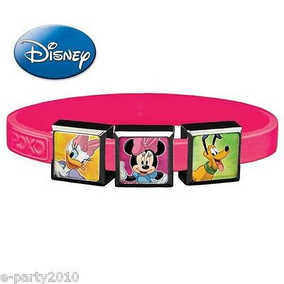 DISNEY CLASSICS ROXO Small SILICONE BRACELET (3 Charm) ~ Birthday Party Supplies](Classic Minnie Mouse Party Supplies)
