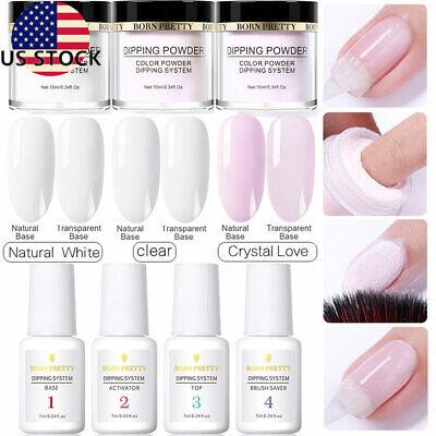 Used, 7X Set BORN PRETTY Dipping Nail Powder System Dip Liquid 4 Steps Kits No UV Need for sale  USA