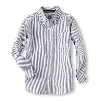 The Children's Place NWT Boys  Oxford Long Sleeved Dress Shirt Medium 7/8 (i1)