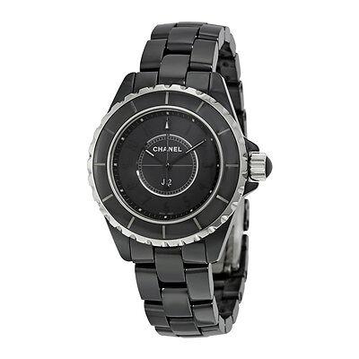 Chanel J12 Black Dial Ceramic Ladies Watch H3828