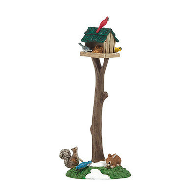 Department 56 Woodland Bird Feeder 4038870 NEW 2014 D56 Village Accessory