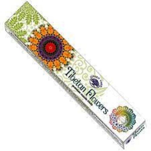 Green Tree Tibetan Flowers Masala Incense Sticks (Single Pack - 12 Sticks)