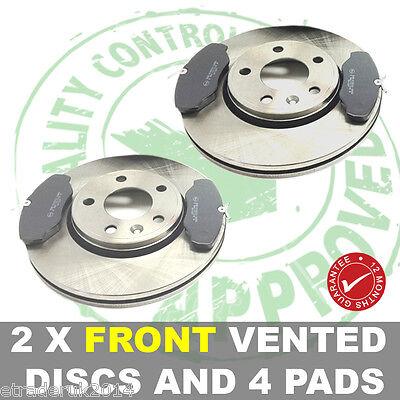 VAUXHALL VIVARO FRONT BRAKE DISCS & PADS AND DISC X2 PAD X4 2001-2013 VAN New