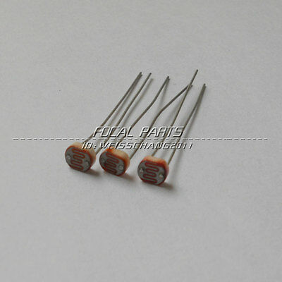 3//5//10x 12mm light sensitive dependent resistor CDS LDR photoresistor GL12528