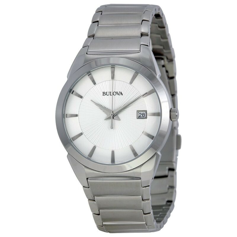 Bulova Men's Analog Watch Silver 96B015