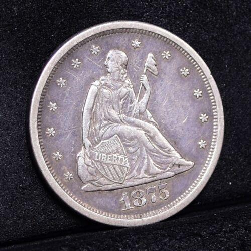 1875-S Twenty Cent Piece - AU Details (#31169)