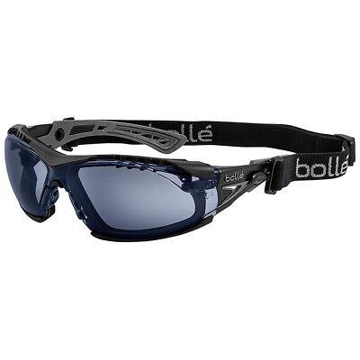 Bolle Rush Plus Safety Glasses Blackgray Temples Smoke Anti-fog Lens