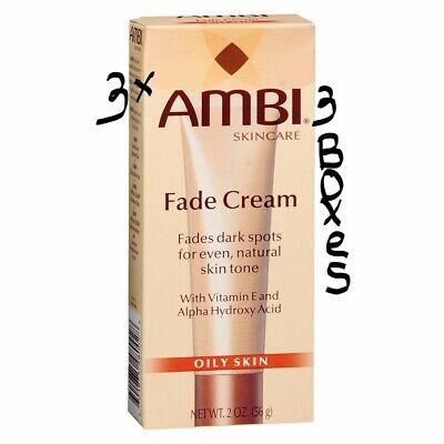 AMBI Skin Care Fade Cream Oily Skin 3-2oz. Bottles EXP: 11/2019 Ambi Skin Care Products