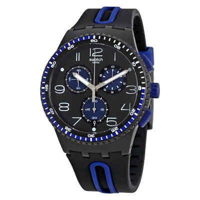 61695b0edc43 Swatch Kaicco Chronograph Black Dial Men s Watch SUSB406