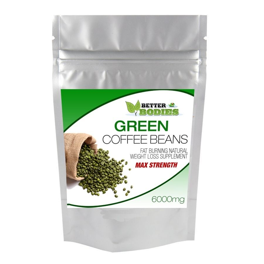 Better Bodies 120 Green Coffee Bean Max 6000mg High Cga Weight