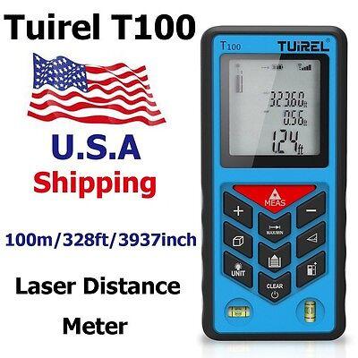 Usa Ship Tuirel100m328ft Laser Distance Meter Range Finder Measure Instrument
