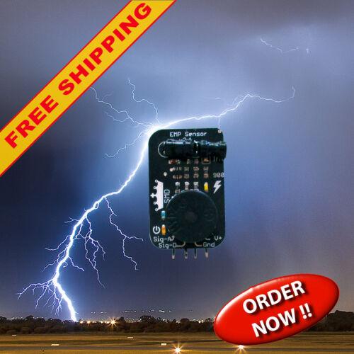 EMP sensor / detector module for lightning detection