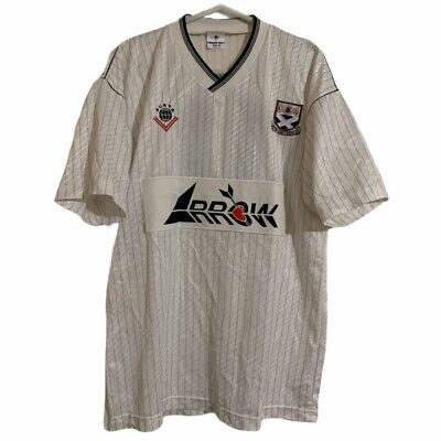 1988 1990 AYR UNITED MATCH PLAYER ISSUE HOME FOOTBALL SHIRT #7 - L image