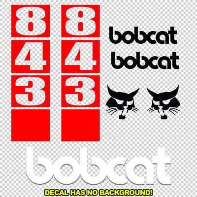 Bobcat 843 Skid Steer Set Vinyl Decal Sticker - Aftermarket