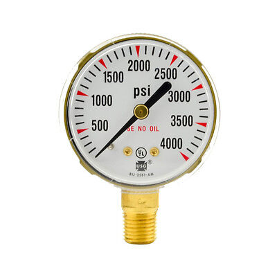 2 X 4000 Psi Welding Regulator Repair Replacement Gauge For Oxygen