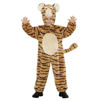 TIGER PLÜSCHKOSTÜM Karneval Kinder Plüsch Kostüm Tier Verkleidung 110/116 98113 ()