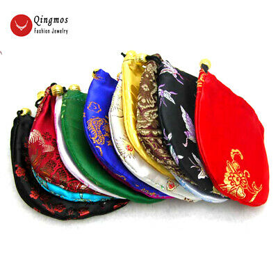 Wholesale 50 Pcs 88cm Mix Color China Silk Jewelry Pouches For Package Who101