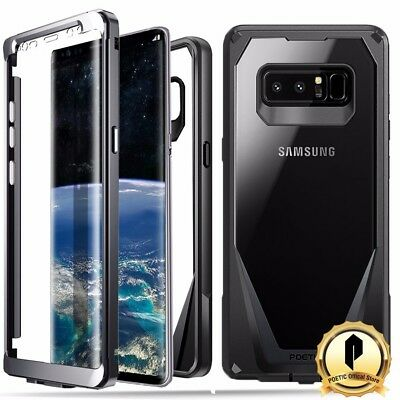 Poetic For Samsung Galaxy Note 8  Guardian  Scratch Resistant  Rugged Case Black