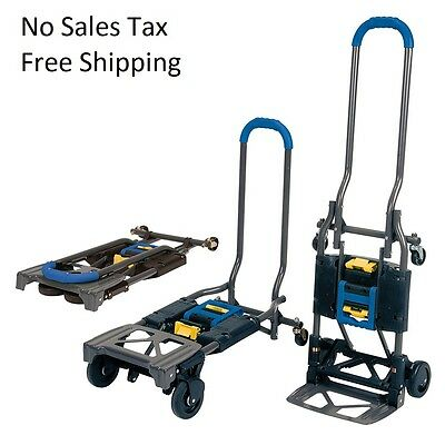 Cosco Shifter Multi-position Folding Hand Truck And Cart 300lb Top Quality Blue