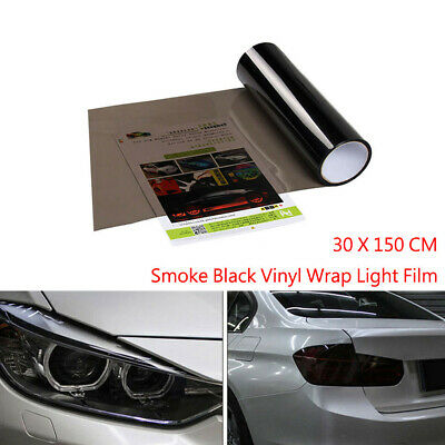 30CM x 150CM Car Light Smoke Black Tint Film Headlights Tail lights Vinyl Wrap