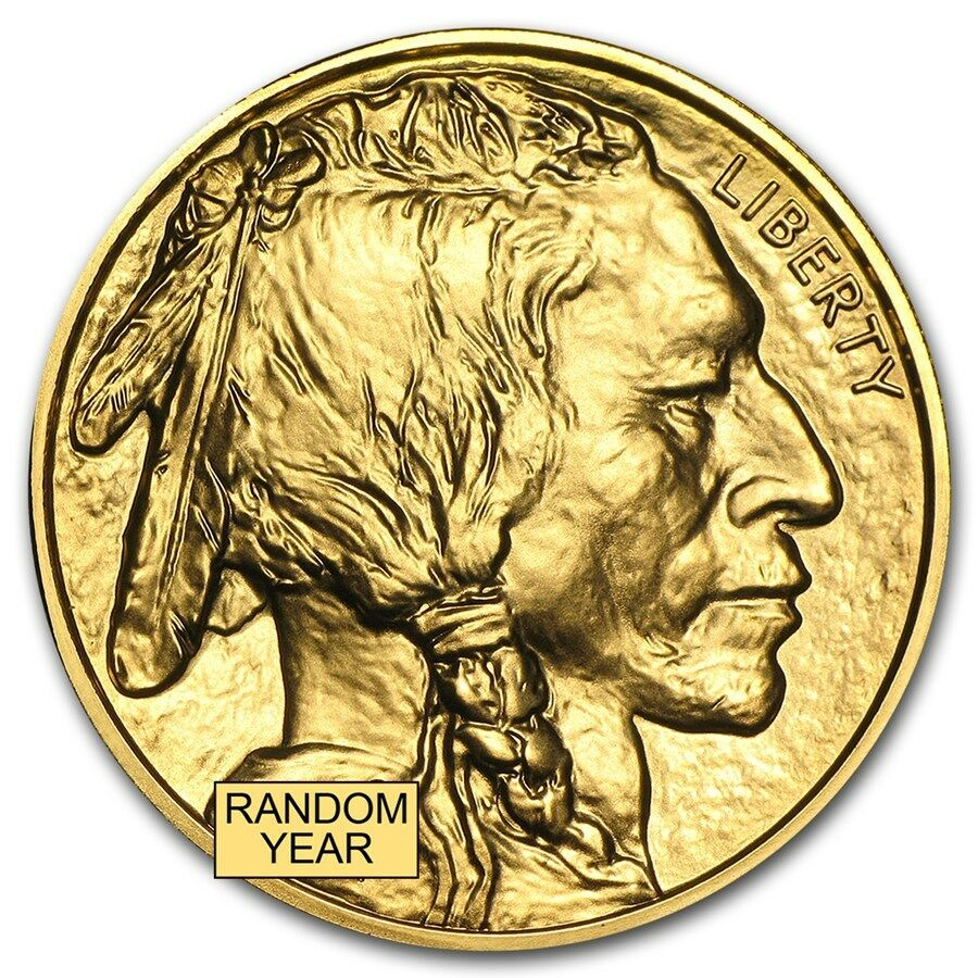 Купить US Mint - Random Year 1 oz Gold American Buffalo .9999 Brilliant Uncirculated - SKU #87710