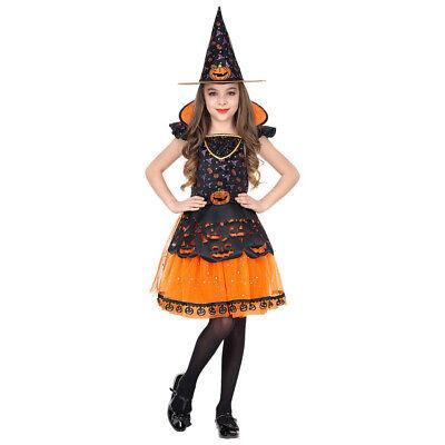 KINDER HEXEN KOSTÜM & HUT # Halloween Karneval Mädchen Kürbis Party Kleid - Mädchen Kürbis Kostüm Hexe