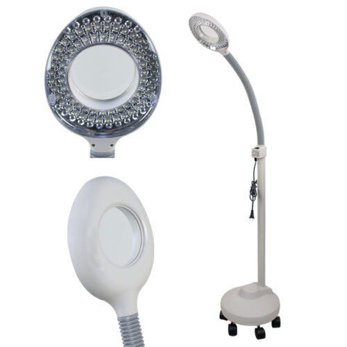 5X Desk Table Floor Clamp Magnifier Lamp Light Magnifying Glass Lens Diopter Health & Beauty