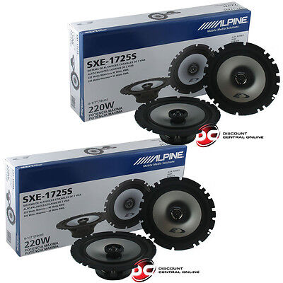 4 x BRAND NEW ALPINE 6.5-INCH 2-WAY CAR AUDIO COAXIAL SPEAKERS 6-1/2""