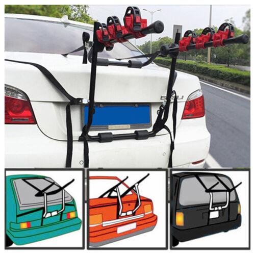 Black 3 Bike Trunk Mount Hatchback SUV Car Wagon Sport Bicyc