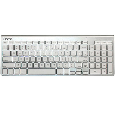 iHome Full Size Bluetooth Wireless Keyboard with Numeric Keypad for Mac