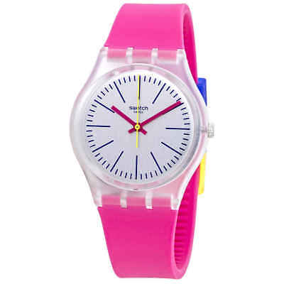 Swatch Fluo Pinky Grey Dial Ladies Watch GE256