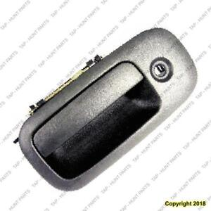 Door Handle Outer Front Driver Side Black (With Key Hole) Chevrolet Express Van 2003-2009