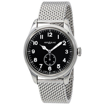 MontBlanc 1858 Automatic Black Dial Mens Watch 115074