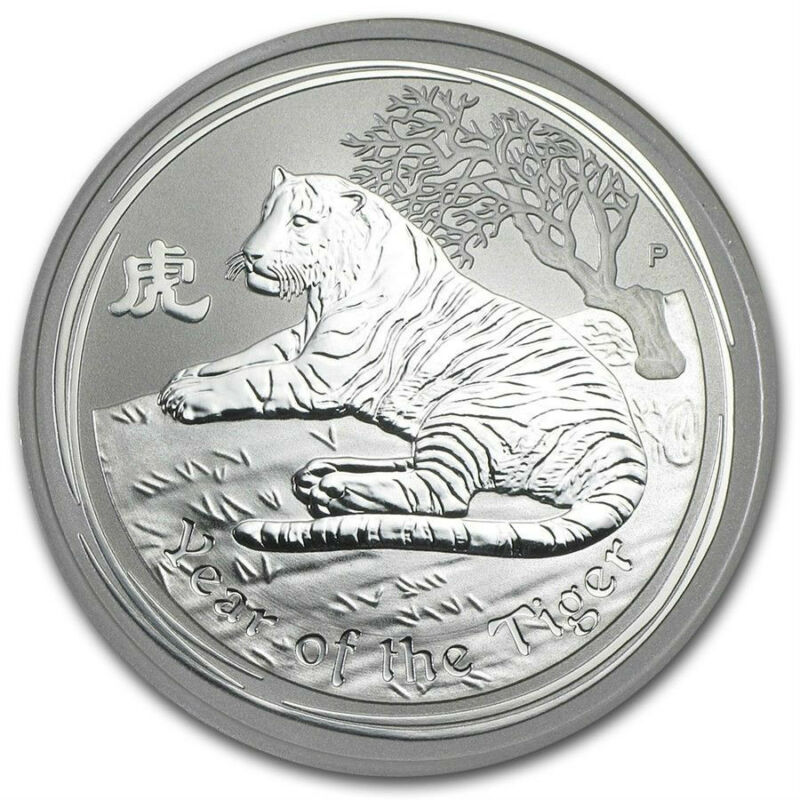 2010 Perth Mint Australia Tiger Half 1/2 oz Silver Coin