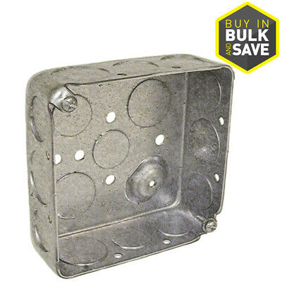 10 Pack 2gang Metal New Old Work Standard Square 4 Ceiling Wall Electrical Box
