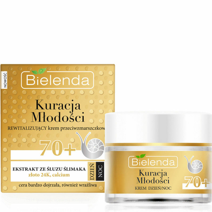 Bielenda 24K Gold Youth Treatment Anti Wrinkle Face Day & Night Cream Snail 50g