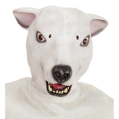 LATEX POLARBÄR MASKE Bärenmaske Eisbärmaske Bären Maskottchen Kostüm Deko 96632 ()
