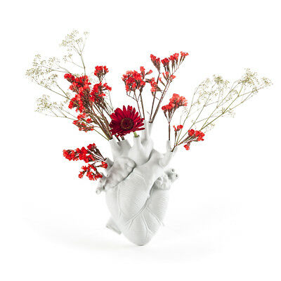 SELETTI vaso a forma di cuore LOVE IN BLOOM 16,5 x 9 x H25 cm by Marcantonio