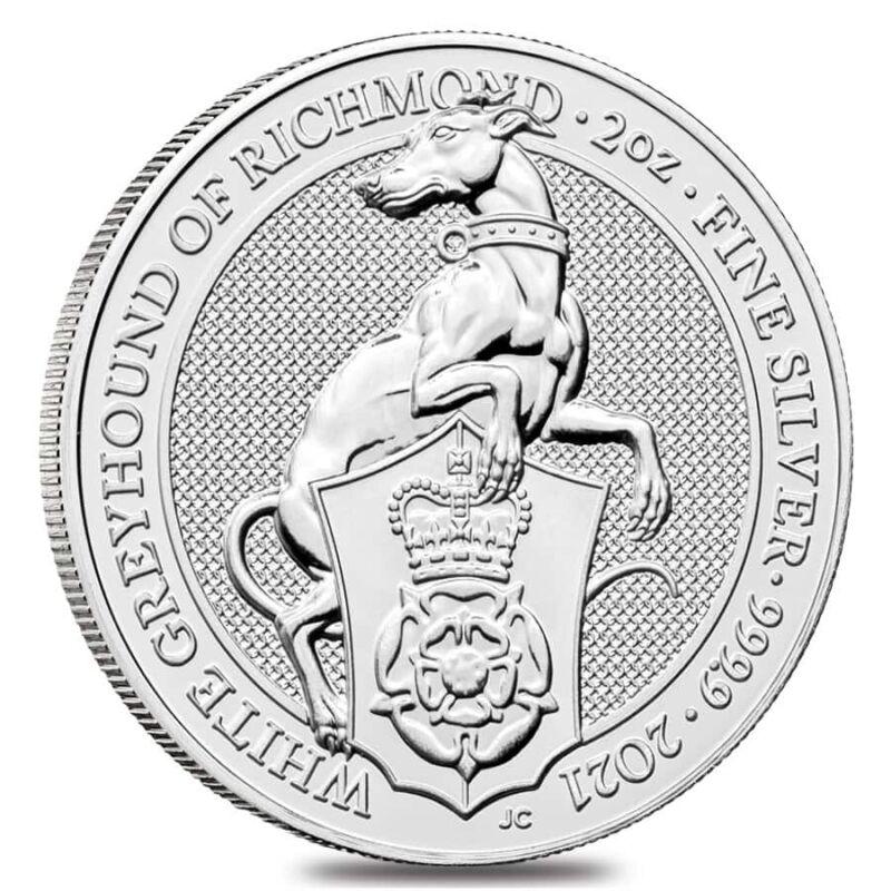 2021 Great Britain 2 oz Silver Queen