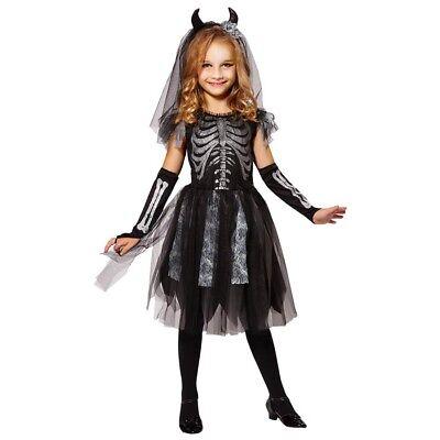 SKELETT KOSTÜM KINDER Halloween Karneval Fasching Kleid Mädchen Zombie # - Zombie Kostüm Kinder