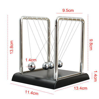 Newtons Cradle Fun Steel Balance Balls Physics Science Pendulum Desktop Toy Gift