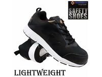 NEW MENS LIGHTWEIGHT STEEL TOE CAP SAFETY WORK TRAINERS SHOES BOOTS SIZE UK 10 EUR 44 NEW IN BOX