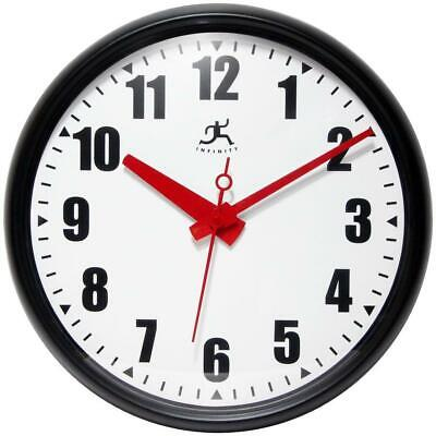 Infinity Instruments Impact Wall Clock 15 in. Round Indoor Quartz Glass Cover