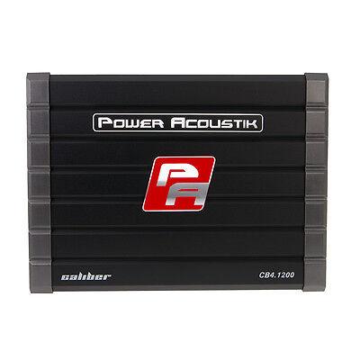 Power Acoustik CB4.1200 Class A/B 1200 Watts Speaker Voice 4 Channel Amplifier