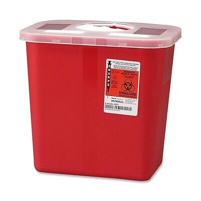 2 Gallon Sharp Needle Disposal Container Lid Tattoo Sharps - Lot Of 10
