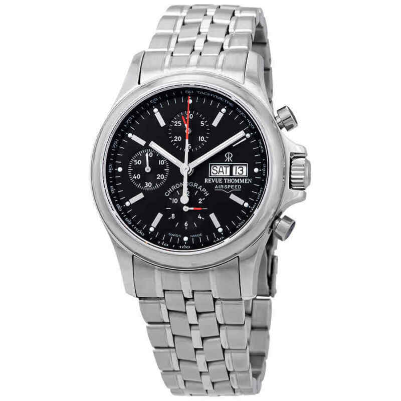 Revue Thommen Airspeed Chronograph Automatic Black Dial Men Watch 17081.6134