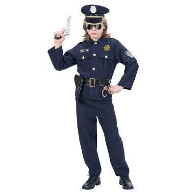 HUT KINDER Karneval Fasching Polizei Uniform Jungen # 7316 (Kind, Polizei-uniform)