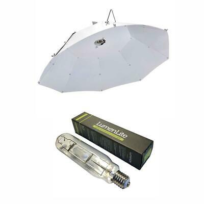 White Parabolic Reflector With 600w MH Bulb For Plant Growth/Vegetables/Herbs